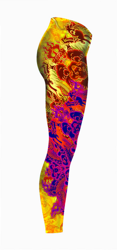 Tattooed-Dragon-Legging-Right-Red-Gold-C