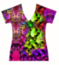 STORE-Ladies-V-neck-Modern-Rhombuses-and