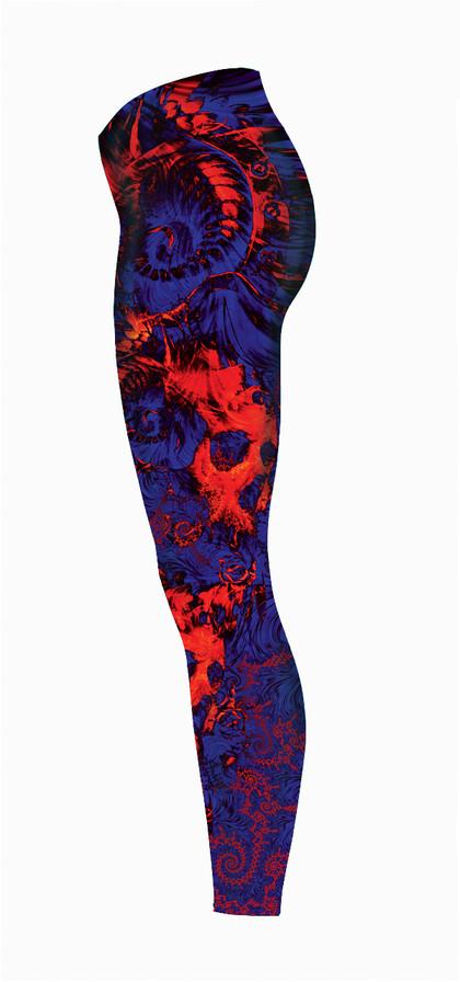 Blood-Skulls-Volcanic-Blue-Legging-Left-