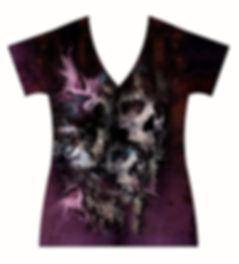 STORE-Ladies-V-neck-Winged-Brujeria-Tatt