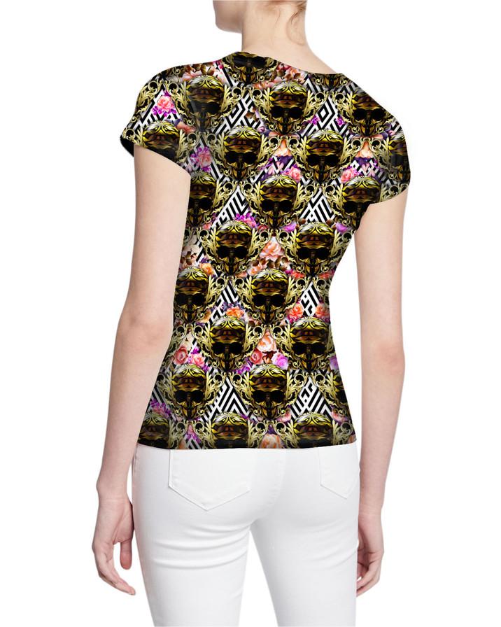 Ladies-V-Tshirt-Gorgeous-Exclusive-Royal