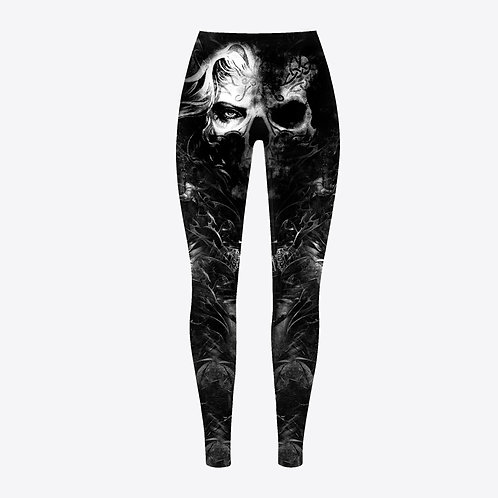 Wicked Skull Tattooed Leggings