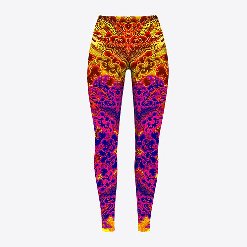 Fire Dragon Tattooed Legging