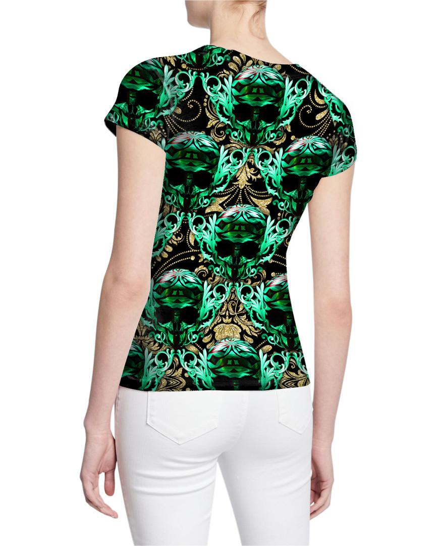 Ladies-V-Tshirt-Back-Gorgeous-Engraved-G