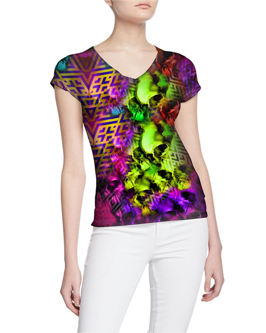 Ladies-V-Tshirt-Modern-Rhumbuses-and-Sku