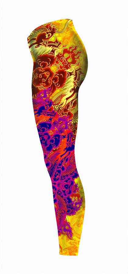 Tattooed-Dragon-Legging-Left-Red-Gold-Co