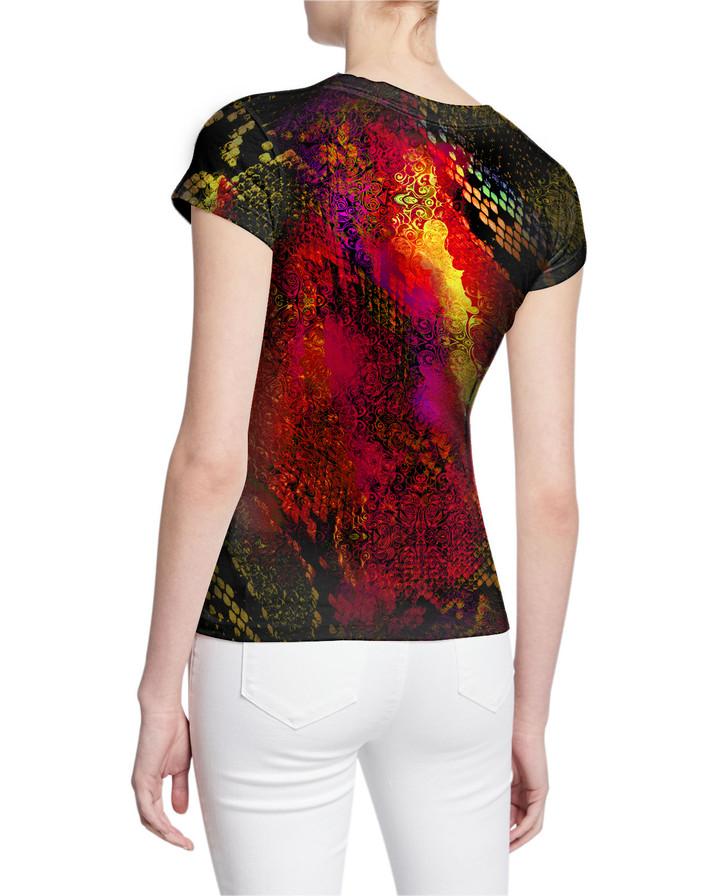 Ladies-V-Tshirt-Back-ExoticAnimalPrint-S