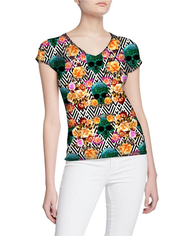 Ladies-V-Tshirt-Platinum-ExclusiveDesign