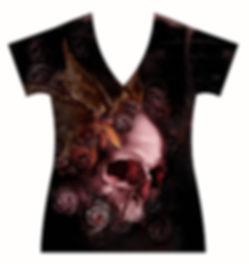 STORE-Ladies-V-neck-Stressed-DemonSkull-