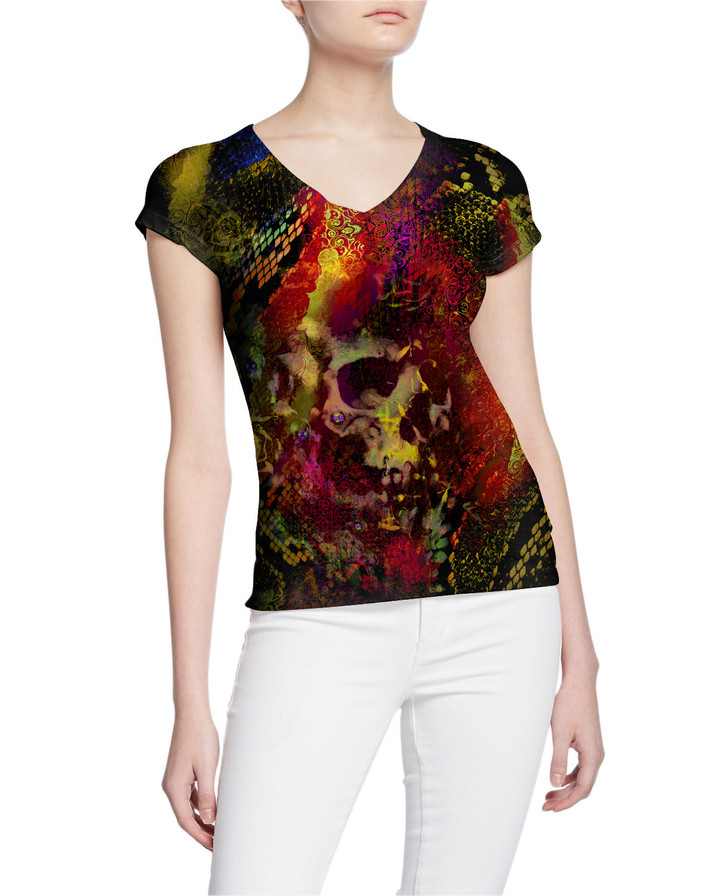 Women-Exotic-Animal-Print-Skull-Front-Wi