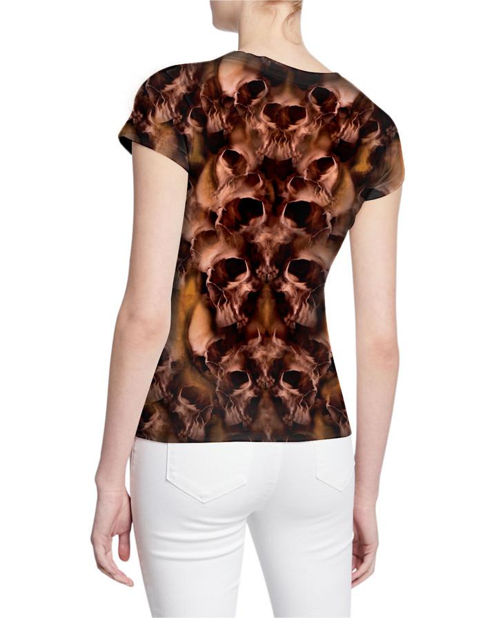 One-Million-Skulls-Ladies-V-Tshirt-Back-