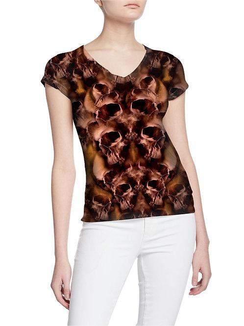 One Million Skulls in Hell Pattern Women T-shirt