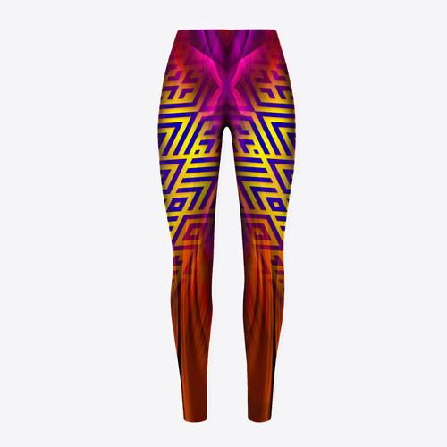 Seamless-Lozenges-design-x-Back-Leggings