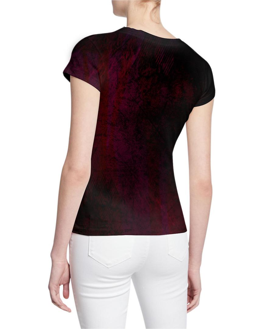 Ladies-V-Tshirt-DemonSkulls-and-Colorful