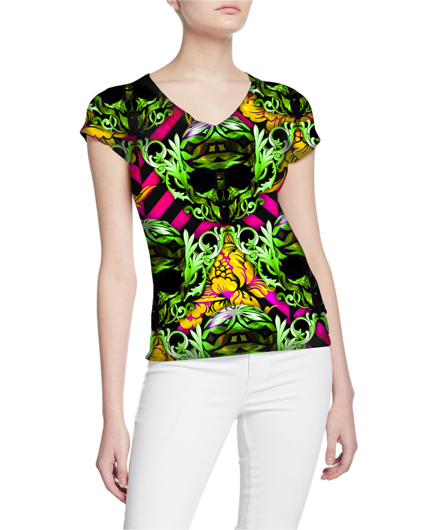 Ladies-V-Tshirt-Dazzling-Gold-DiamondSku