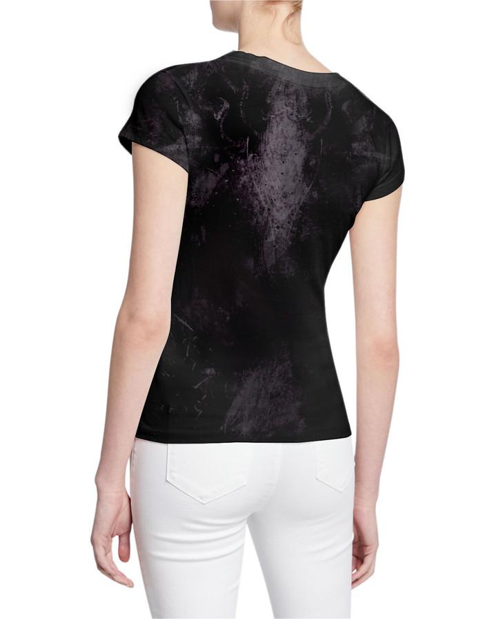 Ladies-V-Tshirt-A-GhostSympathy-Stressed