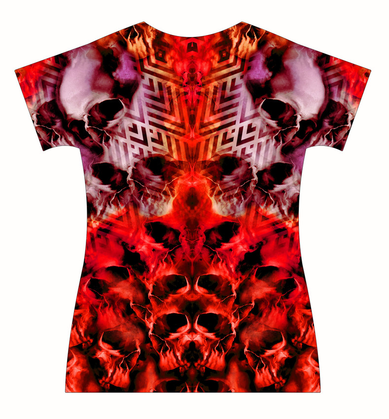 STORE-Ladies-V-neck-Tormented-Skulls-and