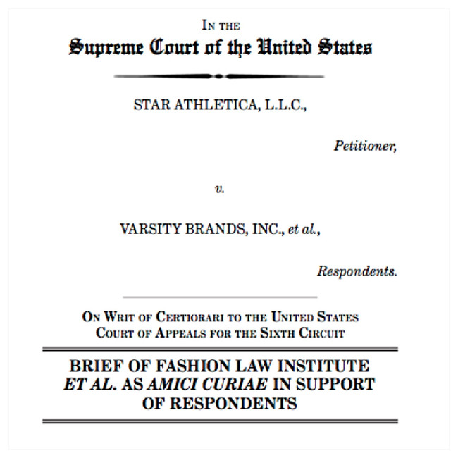 Friends of the Court Weigh in on Star Athletica, LLC v. Varsity Brands, Inc.