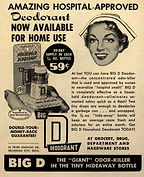 Big D Deodorant advertisment, circa 1953