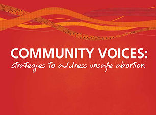 Voces de la comunidad: estrategias para abordar el aborto inseguro