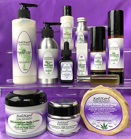 image of purple labeled CBD products
