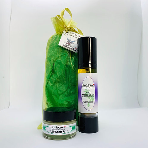 Kalikare CBD Massage Oil & THC Intimate Lube