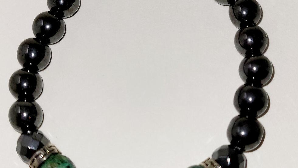 Turquoise & Hematite 8MM