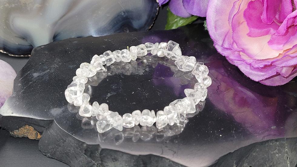 Chip Bracelet, Bracelet, Clear Quartz, Quartz, Gemstone, Crystals