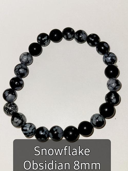 Snowflake Obsidian 8MM