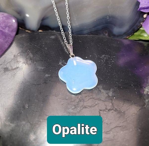 Opalite Flower Pendant