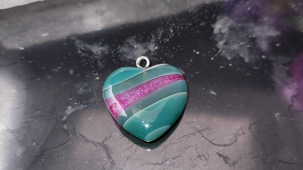Green with Pink Stripe Agate