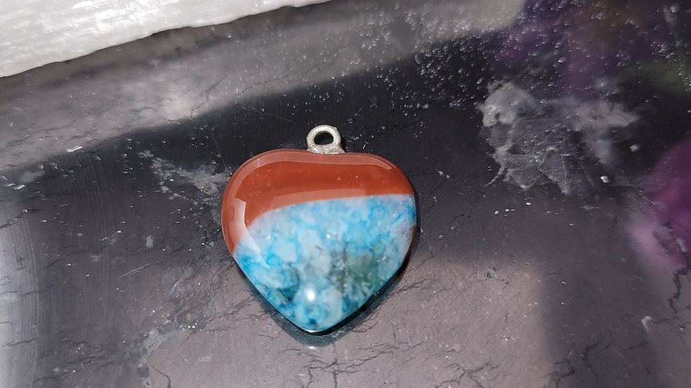 Blue and Red Agate