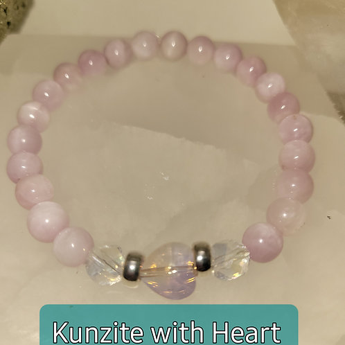 Kunzite with Heart