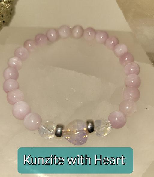 Kunzite with Heart