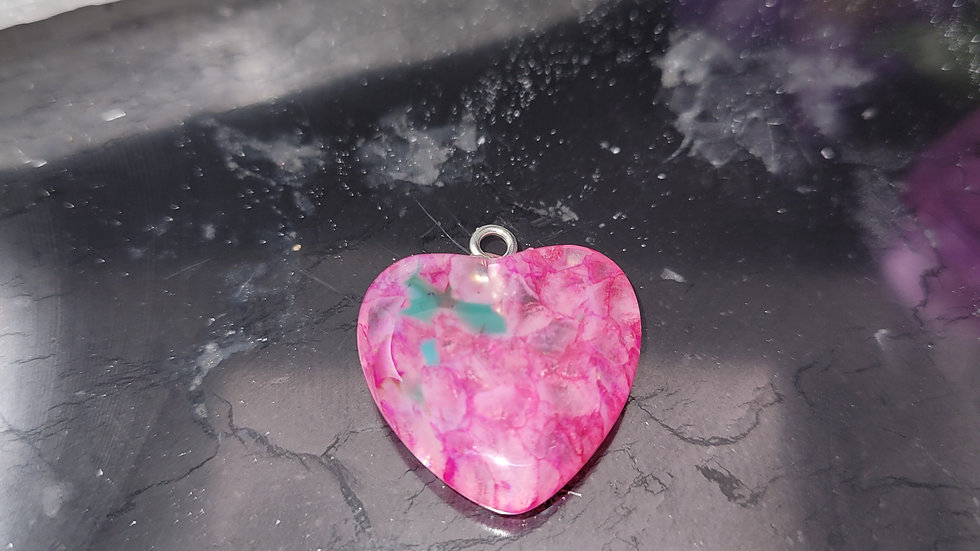 Pink with Green Spots Agate
