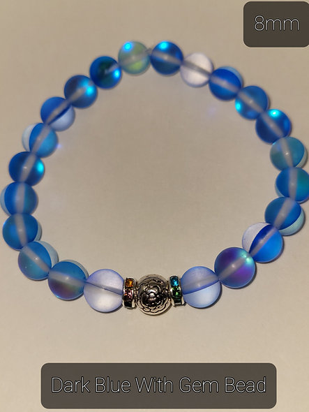 Dark Blue with Bead 8MM