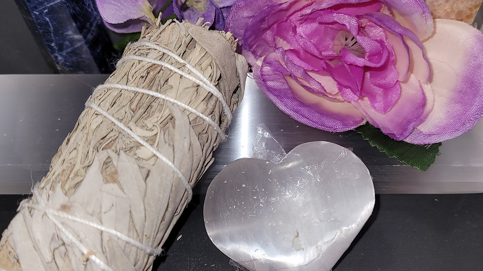 Smudge Kits, Cleansing Kits, Sage, Selenite, Sanford Maine