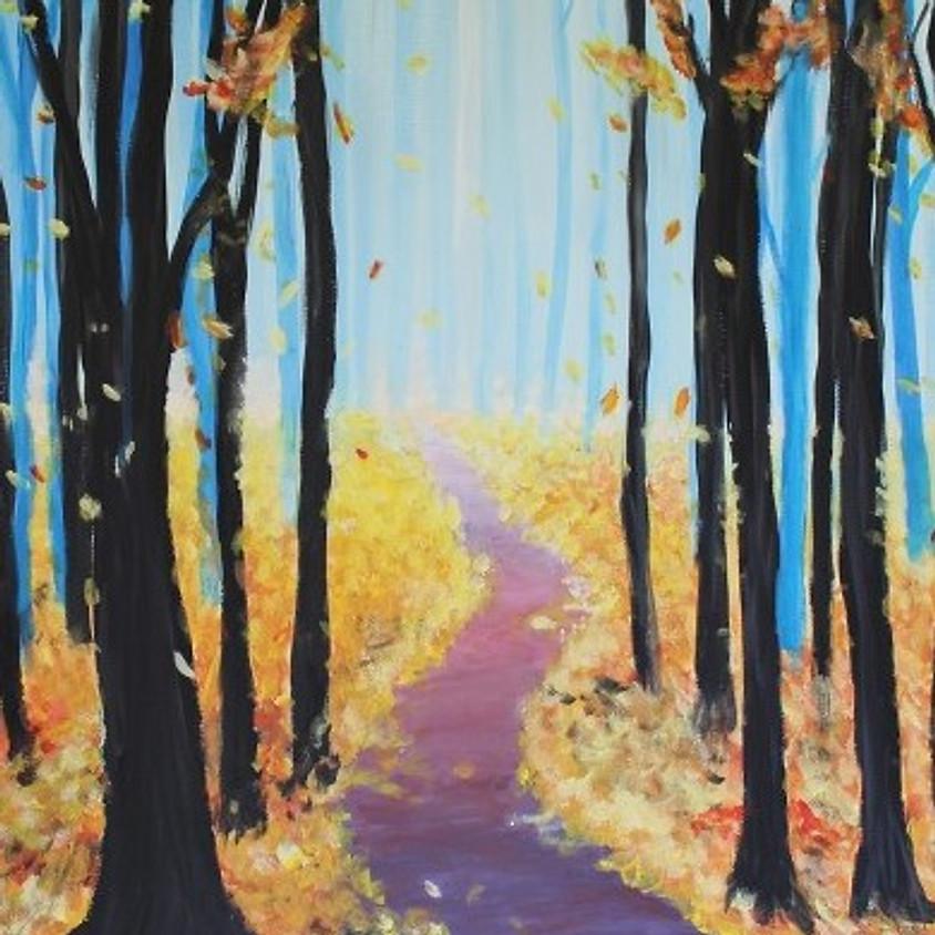 "Kid's Cookies & Canvas ""Fall Leaves"""