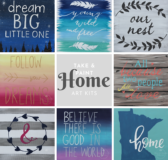 Take & Paint Home Art Kit: Canvas Quotes