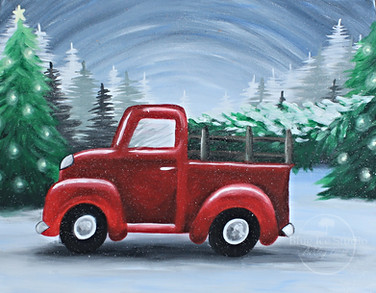NEW! Vintage Christmas Truck