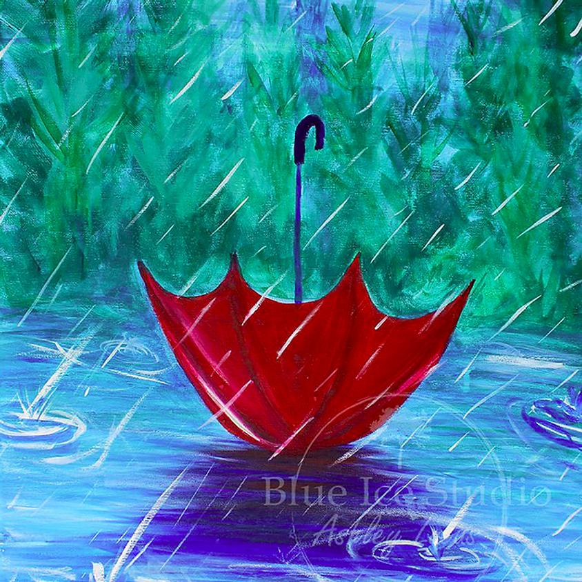 "Online Paint Class ""Rainy Day Umbrella"""