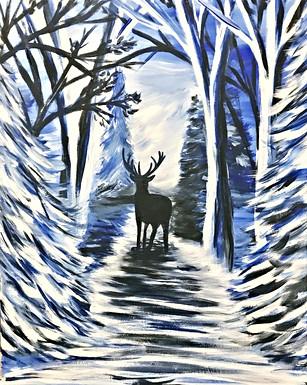 Forest Winter Moonlight