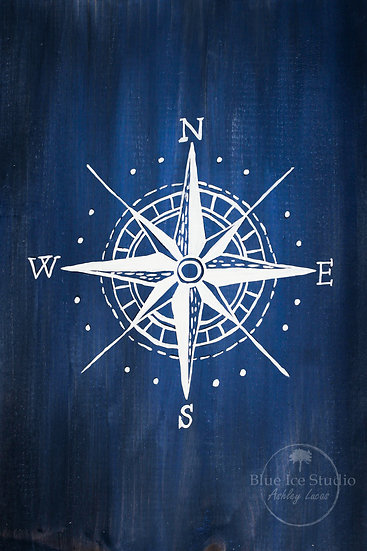 "Take & Paint Paint Home Art Kit: ""Compass Rose"" Wood Sign"