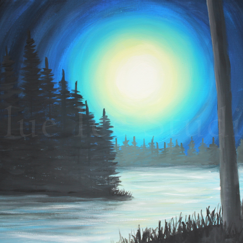 """Rae Jean B's Private Paint Party """"North Woods"""""""