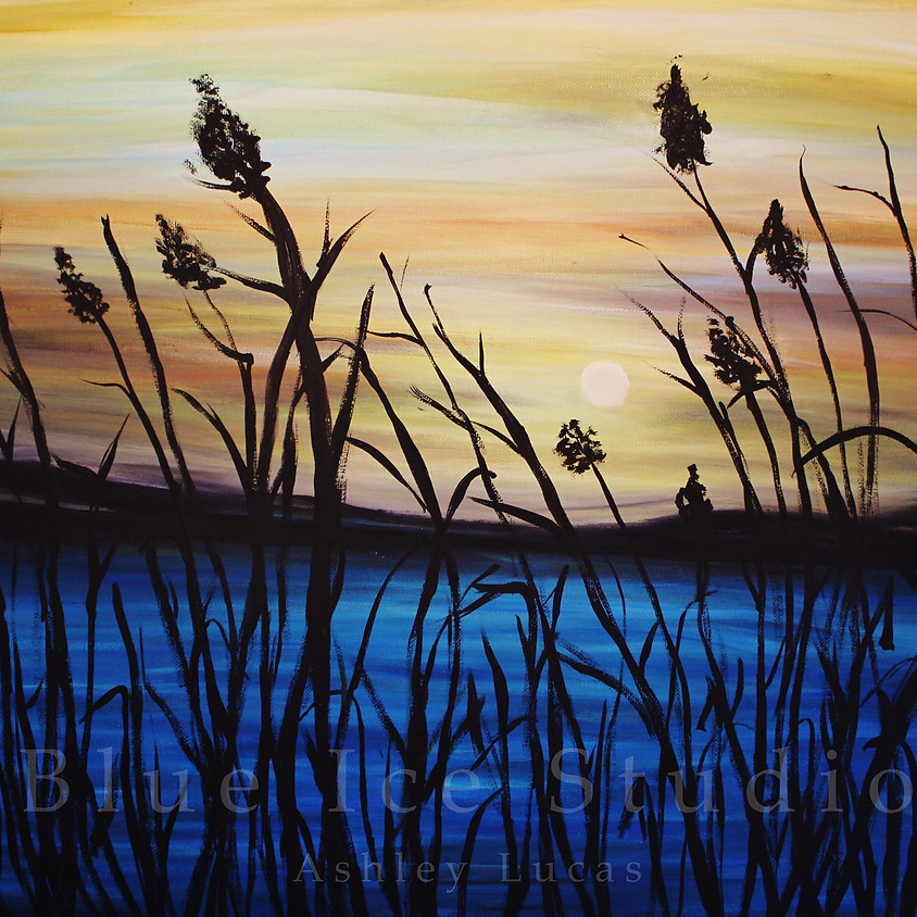 """Canvas Creations """"Reeds at Dawn"""""""