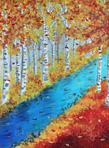 Birch Forest in the Fall