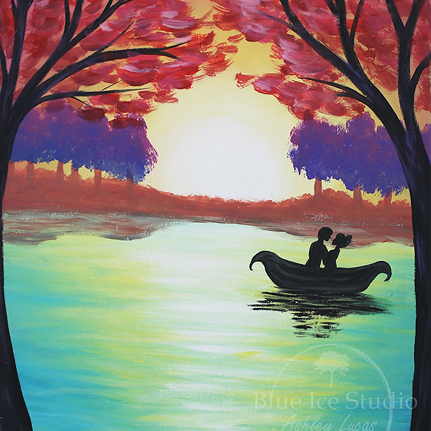 """Paint & Sip at Grandview Valley Winery """"Love on the Water"""""""