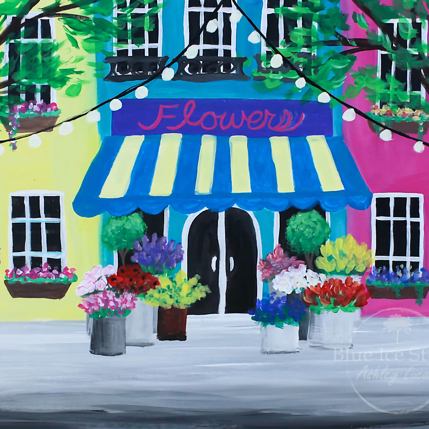 """Paint & Sip at Hinterland Winery """"Flower Shop"""""""