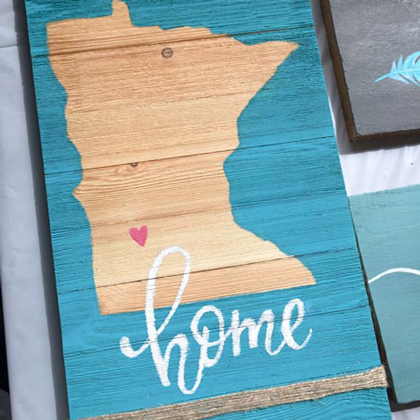 "Studio Paint ""MN Home"" Pallet Sign (1)"