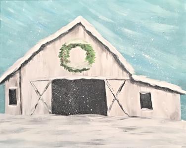 NEW! Snowy Barn